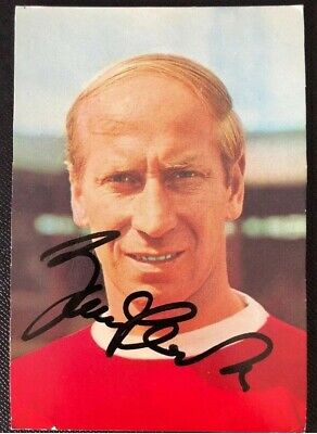 Bobby Charlton Signed Autograph England 1966 World Cup And Manchester United.