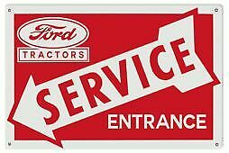 VINTAGE ANTIQUE Style Metal Sign Ford Tractor Service 18x30