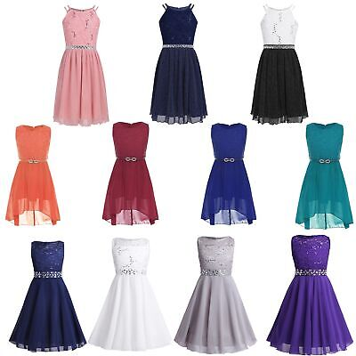 Chiffon Flower Girls Dress Pageant Bridesmaid Wedding Formal Party Evening Gown