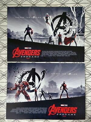 Avengers Endgame (2019) Posters Part 1 + 2 *Official ODEON* A3 Marvel NEW
