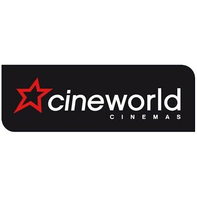 Cineworld 2D Screening Adult Cinema Tickets Excl Leicester Square