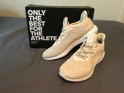 48a9aeb7a5645 Adidas Men s Alphabounce EM Chalk White Running Training Boost Shoes -  BW1207