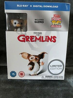 Blu-ray Limited Edition Gremlins With Funko Pop Keyring Box Set * New /sealed*