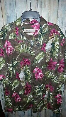 30cd6f7e Mens Tommy Bahama Tahitian Tweets Classic Fit Linen Camp Shirt Size Large