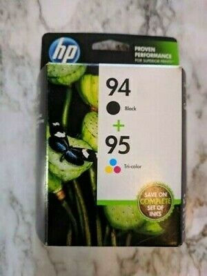 HP 94+95 Ink Cartridges, Black and Tri-Color Combo-Pack, Expired, Sealed