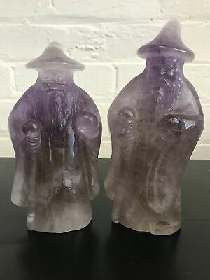 Hand Carved Natural Amethyst Crystal Wizard