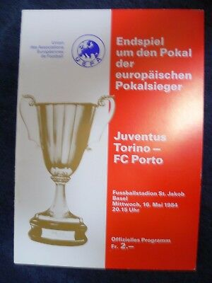 1984 European Cup Winners Cup Final- JUVENTUS v PORTO, 16 May (Exc cond. Org*)