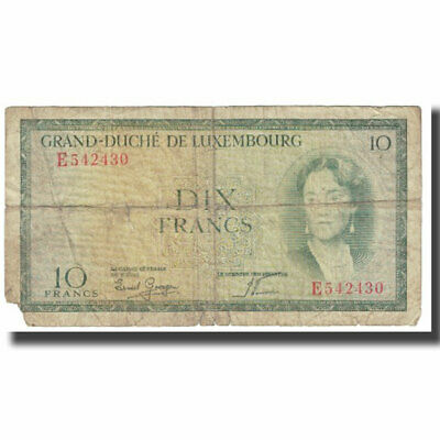[#610881] Banknote, Luxembourg, 10 Francs, KM:48a, AG(1-3)