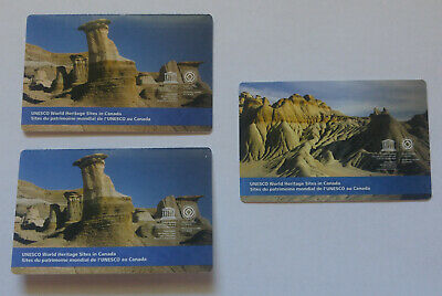 ERROR Canada 2015 UNESCO World Heritage Sites Recalled Stamps + Correction