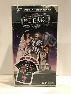 Funko Home Video Exclusive VHS Packaged Tee Shirts Beetlejuice New Sizes