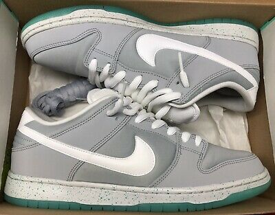 new product 0af10 417ca Nike Dunk Low Premium SB Marty Mcfly Air Mag Wolf Grey White Retro Sz 12