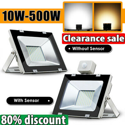 10W- 500W LED Flood Light Cool Warm White Work Wall Spot Floodlights IP65 AC240V