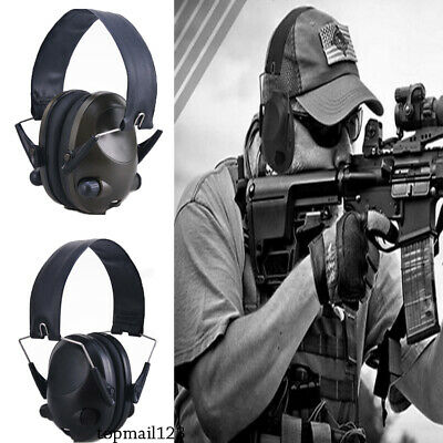Electronic Headphones Ear Muffs Hearing Protection Noise Shooting Safety Headset