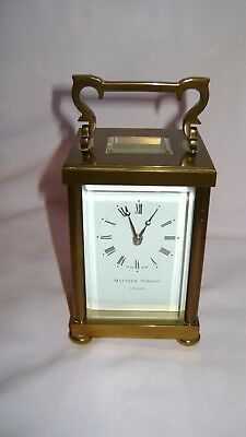 Vintage Matthew Norman Classical  Carriage Clock W/Presentation Case And Gtee