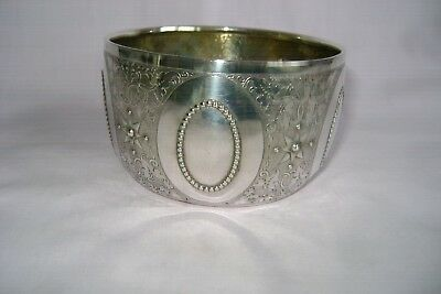 Antique Hallmarked Solid Silver  Engraved Bowl George Fox London 1873