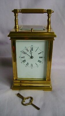 Large French Repeater Carriage Clock In Good Working Order + Key