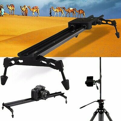 24'' 60cm Camera Slider Dolly Track Video Stabilizer For DSLR DV Camcorder