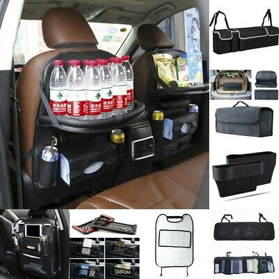 Car Seat Back Multi-Pocket Storage Bag Organizer Holder Accessory Black
