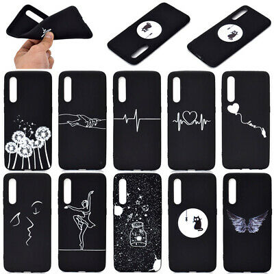 For Xiaomi Mi 9 SE 8 Lite/Note 7 Pro Soft Silicone Black Painted TPU Case Cover