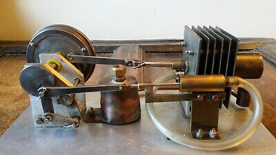 Vintage Large Model Stirling Hot Air Engine - Beautifully Scratch Built Steam