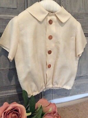 Antique French Baby Silk Shirt / Sweet Child's blouse~Original 1800's Victorian