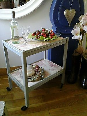 Antique Victorian ~Butler Tea Trolley ~Occasional / Side Table ~French Decoupage