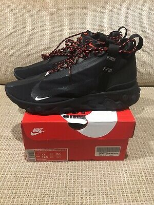 3149715dacef Nike React Runner Mid WR ISPA Black Anthracite AT3143-001 Mens 11 Running  Shoes