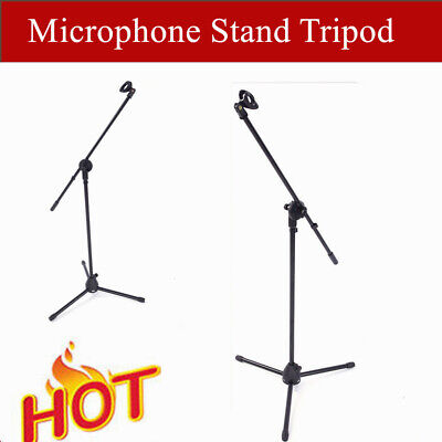 2019 - 360-Degree Rotating Microphone Stand Mic Clip Boom Arm Foldable Tripod