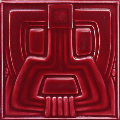 c.1910 Art Deco stylised Aztec tile, Wessel, Germany