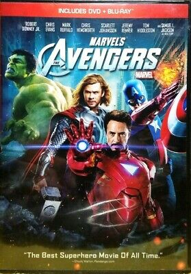 Marvel's The Avengers (2012) - DVD+ BLURAY 2-Disc set EXCELLENT COND / FREE SHIP