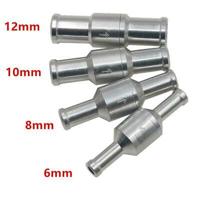Car Aluminium Alloy Fuel Check Valve One Way 6/8/10/12mm for Auto Carburettor
