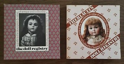 Lot of 2 THE DOLL REGISTRY REFERENCE BOOK BY FLORENCE THERIAULT