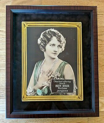 RARE 1920s FLAPPER ADVERTISING BEN HUR PERFUME JERGENS, MAY MCAVOY MOVIE STAR