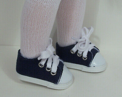 DK BLUE Canvas High-Tops Tennis Sneakers Doll Shoes For Chatty Cathy Debs