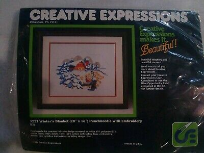 Punch needle embroidery kit Creative Expressions  Winter's  Blanket  20x16