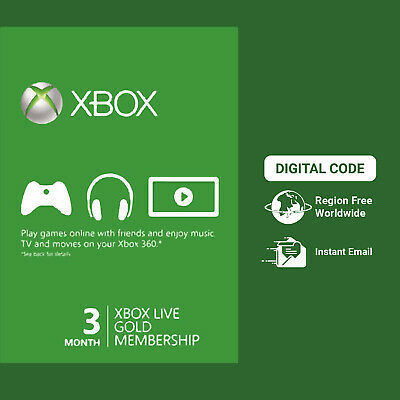 Xbox Live 3 Month Gold Membership Code