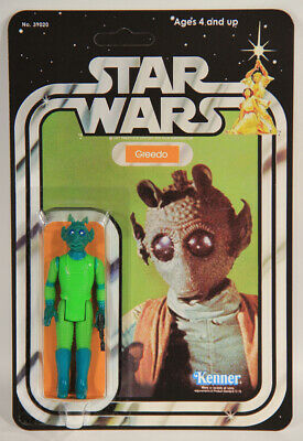 L010512 Star Wars Custom Card 21 Back 1978 / Action Figure / Greedo / Kenner