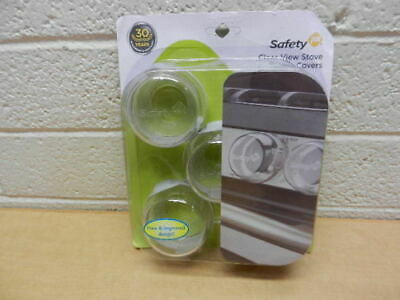 New Safety 1st Clear View Stove Oven Children Knob Covers, 5 Count