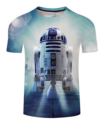 Casual T-Shirt Women /Men 3D Print Star Wars robot darth vader Short Sleeve Top