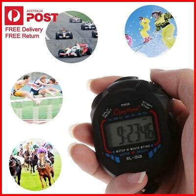 New Handheld Stopwatch Digital Chronograph Counter for Gym Training Sports Work