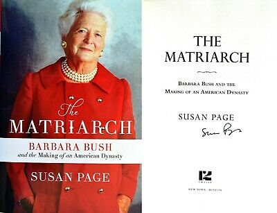 Susan Page~PERSONALLY SIGNED~The Matriarch~1st/1st ~ BEAUTIFUL!!