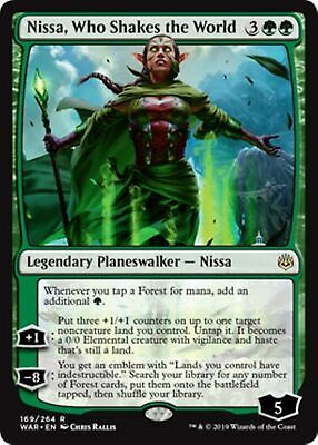 NISSA, WHO SHAKES THE WORLD War of the Spark MTG Green Planeswalker Rare