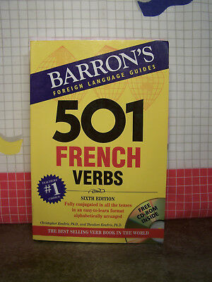 Barron's 501 French Verbs by Theodore and Christopher Kendris - includes CDROM