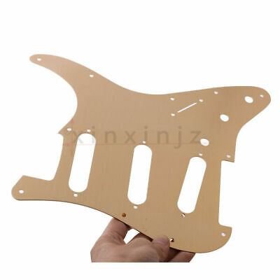 Stratocaster ST SSS Aluminium alloy Guitar Pickguard 11 hole Champagne Gold