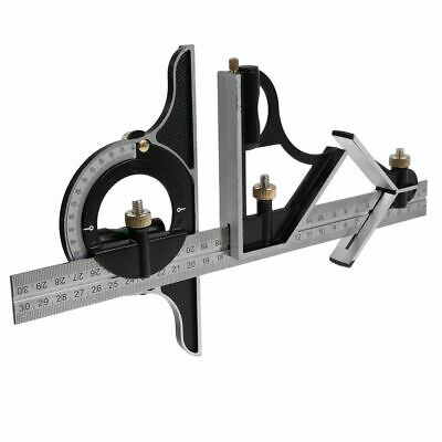 "12"" 300mm Combination Square Protractor Level Measure Measuring Angle Ruler Set"