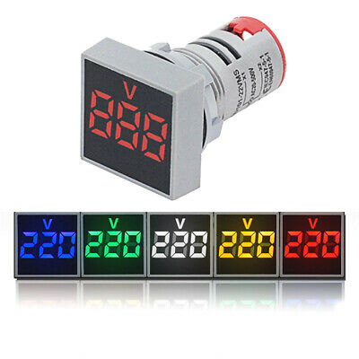 Mini LED Digital Display Volt Voltage Voltmeter Panel Accurate Meter AC 20-500V