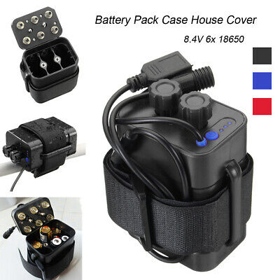 6x18650 Waterproof Battery Pack Storage Case Box for Bicycle Bike Lamp USB Light