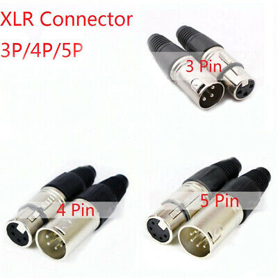 Canon Plug Socket Male/Female Microphone Audio XLR Connector 3P/4P/5P Contacts