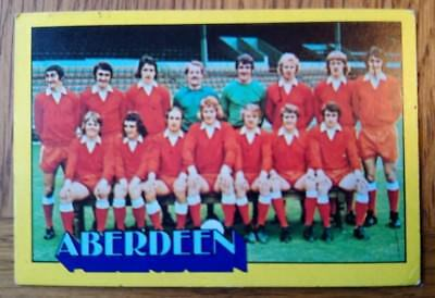 A&BC-FOOTBALL SCOTTISH GREEN BACK 1974 Aberdeen Team Card #1 End Number
