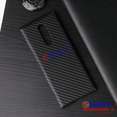 "2x for Sony Xperia 1 Dual Sim 6.5"" 2019 Graphite Carbon Fiber Hard Case ZVCG338"